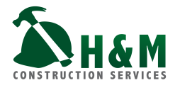 This version of the H&M logo is for the construction branch, but keeps the same feeling by using the same colors and typeface