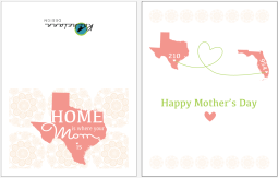 Mother's Day card I designed and printed for my mom