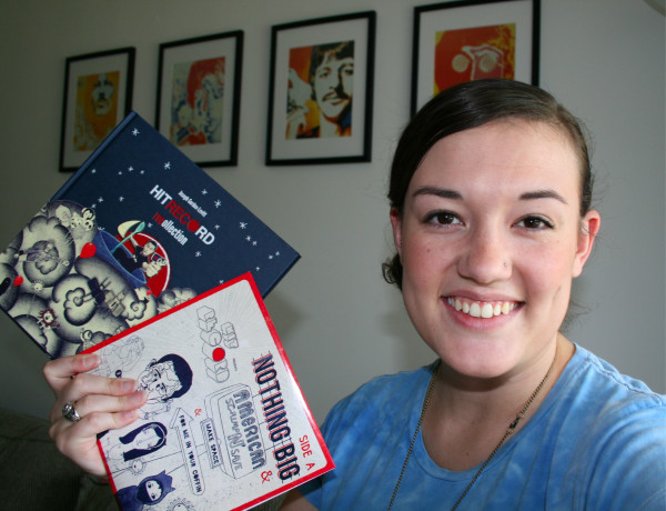 Me with my very first hitREcord compilation in 2011.