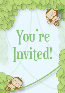 A baby shower invite I illustrated and designed for a contract client