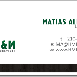 Business card for owner of H&M Real Estate