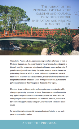 The first page of the graduated booklet I created for the Morikami Stroll for Well-Being program